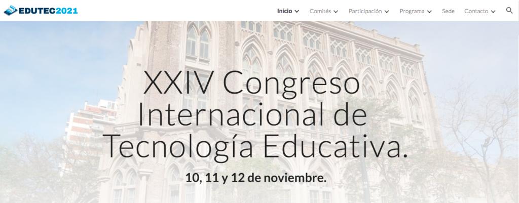 EDUTEC 2021 Congreso Tecnología Educativa